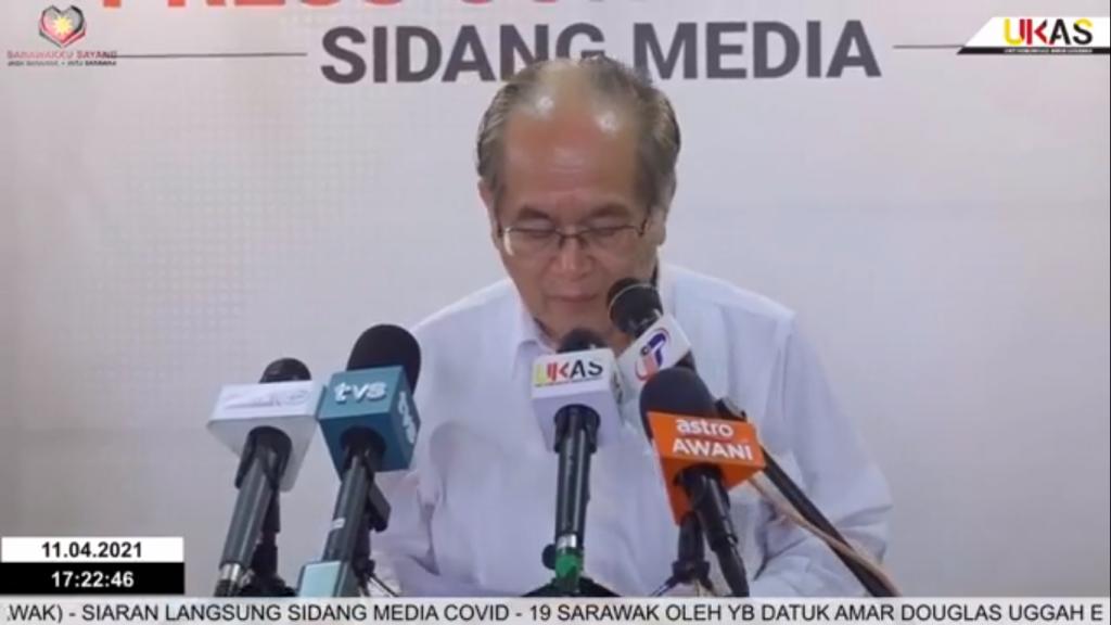 Sidang Media COVID-19 Sarawak oleh Yang Berhormat Datuk Amar Douglas Uggah Embas (11/04/2021)