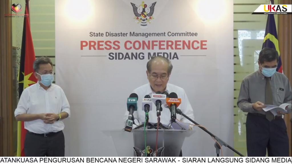 Sidang Media COVID-19 Sarawak oleh Yang Berhormat Datuk Amar Douglas Uggah Embas (06/04/2021)