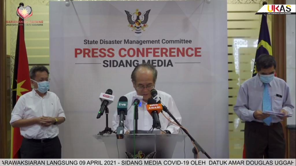Sidang Media COVID-19 Sarawak oleh Yang Berhormat Datuk Amar Douglas Uggah Embas (09/04/2021)